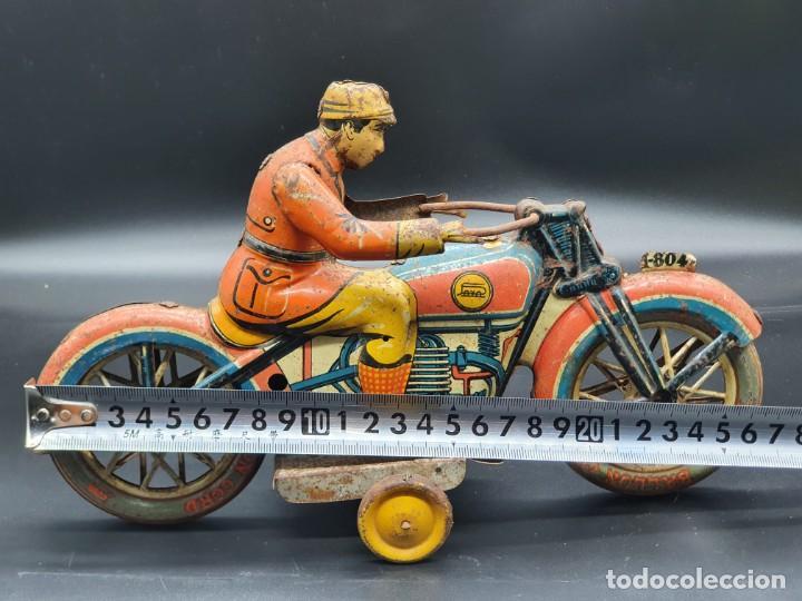 Juguetes antiguos Payá: Moto de Paya primera epoca años 30 - Foto 10 - 219106201