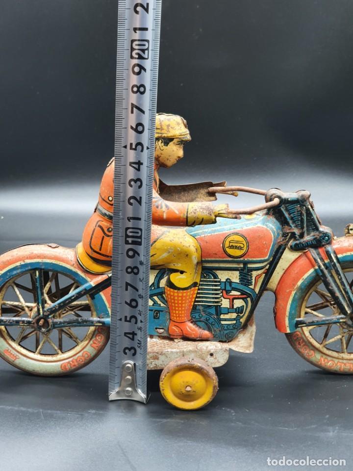 Juguetes antiguos Payá: Moto de Paya primera epoca años 30 - Foto 13 - 219106201