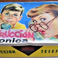 Juguetes antiguos Payá: CONSTRUCCION TELEFONICA PAYA AÑOS 60 EN CAJA ORIGINAL,CONSTRUCCIONES TELEFONOS. Lote 219296826