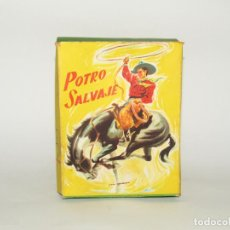 Giocattoli antichi Payá: ANTIGUA CAJA VACÍA DEL POTRO SALVAJE DE JUGUETES PAYÁ DEL AÑO 1958. Lote 219474722