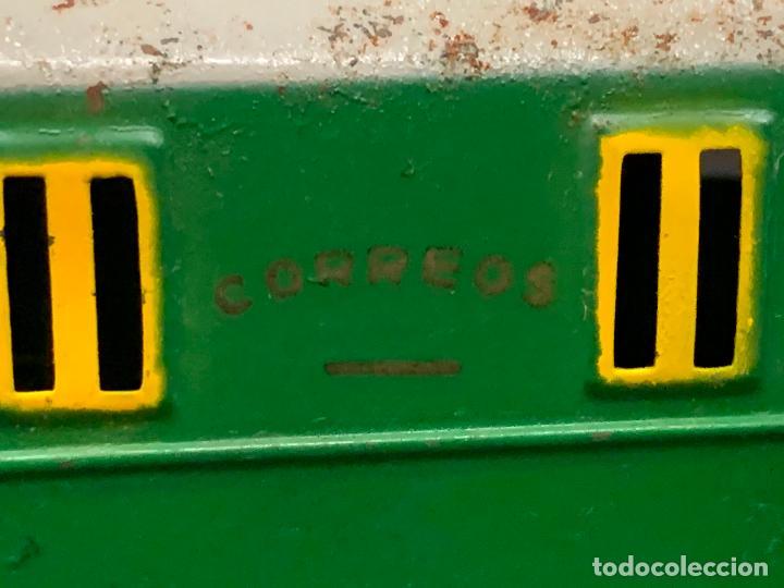 Juguetes antiguos Payá: Antiguo VAGON DE CORREOS, puertas correderas. vagon de hojalata. tren PAYA. Original. Difícil - Foto 6 - 220552605