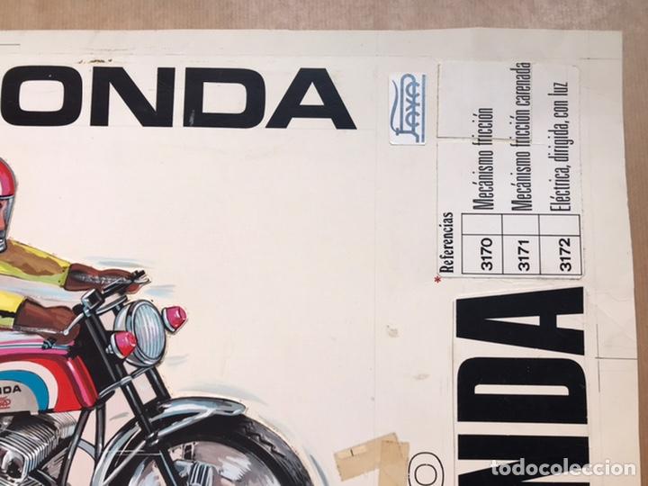 Juguetes antiguos Payá: MOTO HONDA PAYA, REF: 3170 Y 3171 - ORIGINAL PINTADO A MANO, PRUEBA IMPRENTA - AÑOS 1960-70 - Foto 9 - 224305252