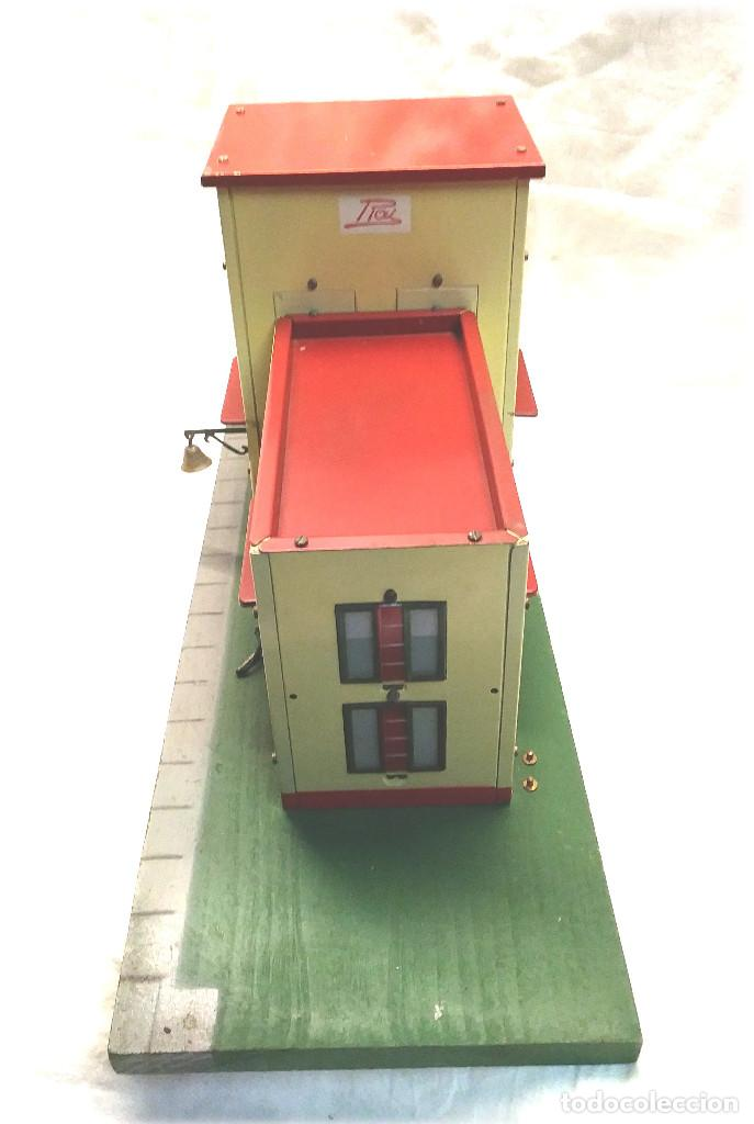 Juguetes antiguos Payá: Estacion de Tren 2 Cuerpos de Paya Ref 1266 en caja de Origen, años 50 - Foto 4 - 233231885