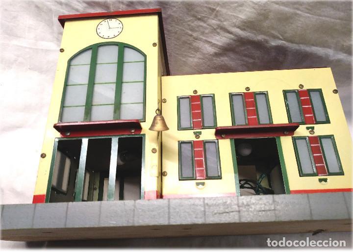 Juguetes antiguos Payá: Estacion de Tren 2 Cuerpos de Paya Ref 1266 en caja de Origen, años 50 - Foto 5 - 233231885