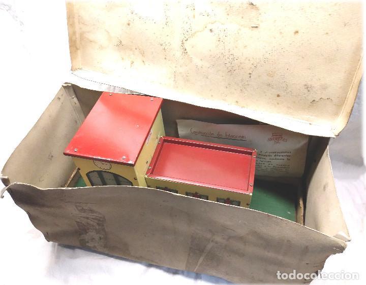 Juguetes antiguos Payá: Estacion de Tren 2 Cuerpos de Paya Ref 1266 en caja de Origen, años 50 - Foto 7 - 233231885