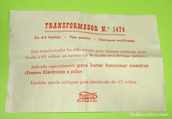 Juguetes antiguos Payá: PAYA TRANSFORMADOR PETACA REF 1474 NUEVO EN SU CAJA - Foto 4 - 236794920