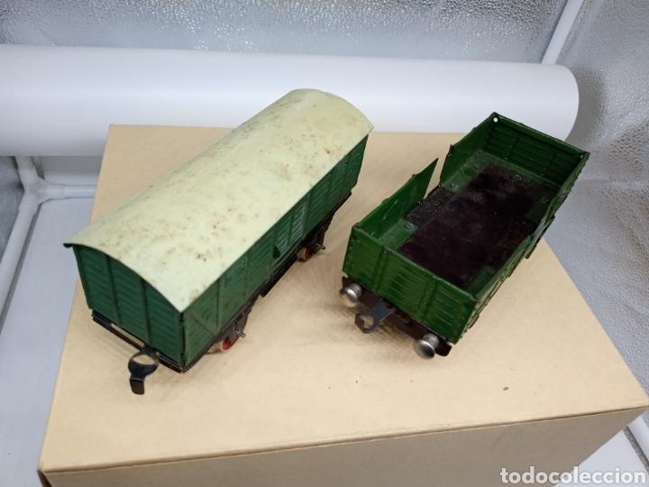 Juguetes antiguos Payá: Payá Lote de 2 vagones Escala 0 - Foto 3 - 236831940