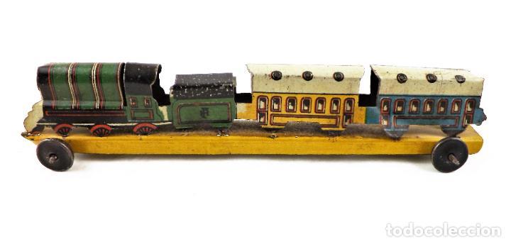 Juguetes antiguos Payá: Tren Paya. Penny train Original Cca 1950 - Foto 2 - 237713610