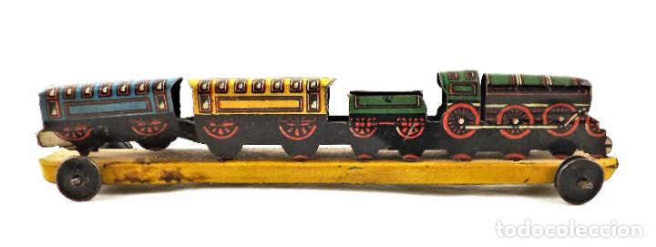 Juguetes antiguos Payá: Tren Paya. Penny train Original Cca 1950 - Foto 3 - 237713610