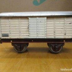 Brinquedos antigos Payá: VAGON MERCANCIAS / TRANSPORTE PAYA - COLOR BLANCO / AÑOS 40 - 50 / HOJALATA ESCALA H0. Lote 240477950