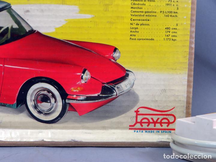 Juguetes antiguos Payá: Citroen DS 19 Paya Tiburón cabledirigido color rosa caja años 60 no funciona - Foto 3 - 241058550