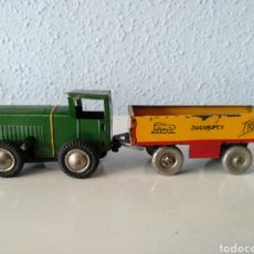 Brinquedos antigos Payá: PAYA RAI, ANTIGUO TRACTOR CON REMOLQUE A CUERDA. Lote 242040570