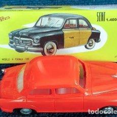 Juguetes antiguos Payá: PAYÁ AUTOESCALA 1/32 SEAT 1400B TAXI BARCELONA CAJA (LEER DESCRIPCIÓN). Lote 245293695