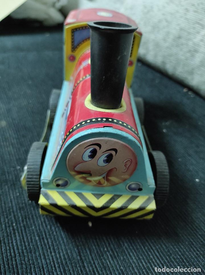 Juguetes antiguos Payá: Locomotora paya de fricción hojalata red 8025 - Foto 3 - 245551640