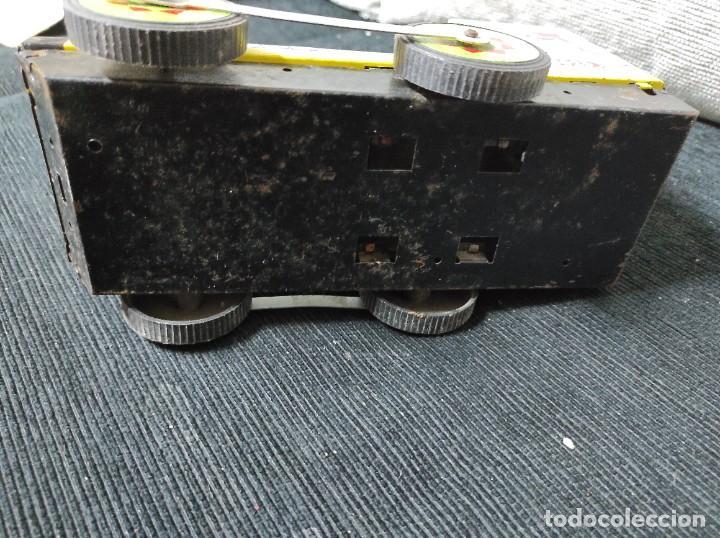 Juguetes antiguos Payá: Locomotora paya de fricción hojalata red 8025 - Foto 7 - 245551640