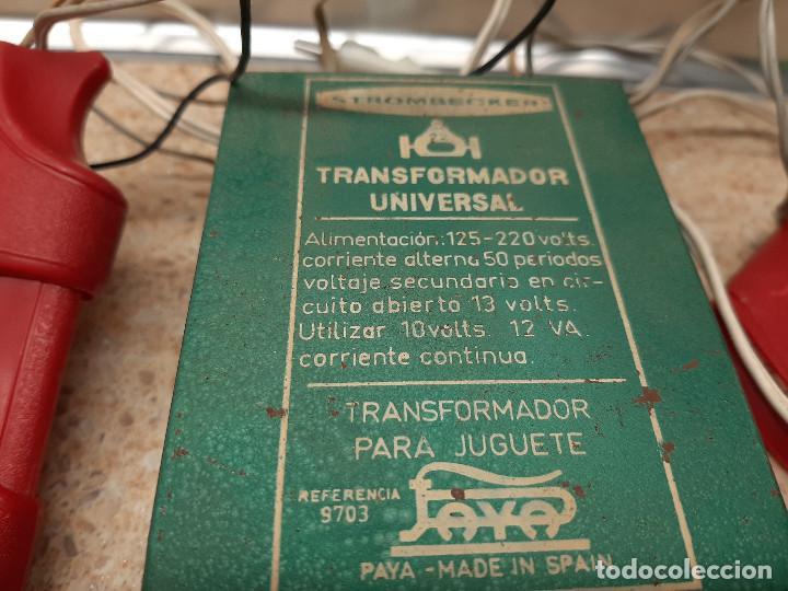 Juguetes antiguos Payá: CONJUNTO STROMBECKER PAYA TRANSFORMADOR Y MANDOS * FUNCIONAN * - Foto 3 - 254819135