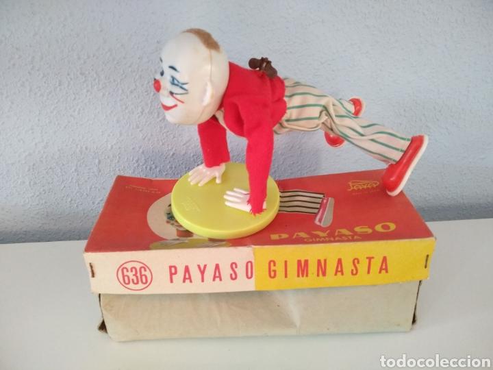 Juguetes antiguos Payá: PAYA, ANTIGUO PAYASO GIMNASTA REFERENCIA 636, CON CAJA ORIGINAL - Foto 2 - 255388895
