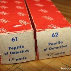 Juguetes antiguos Payá: CINE PAYA - PEPILLO EL DETECTIVE - LOTE DE 2 PELÍCULAS - NUEVAS - AÑOS 60. Lote 269113998