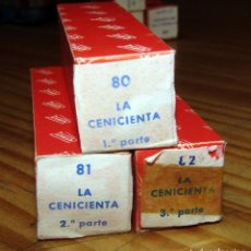 Juguetes antiguos Payá: CINE PAYA - LA CENICIENTA - LOTE DE 3 PELÍCULAS - NUEVAS - AÑOS 60. Lote 269114888