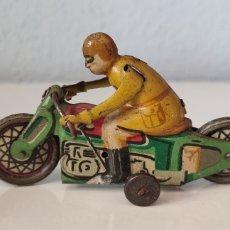 Juguetes antiguos Payá: PAYA, ANTIGUA MOTO HOJALATA LITOGRAFIADA AÑOS 30. Lote 269732908