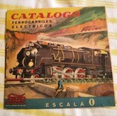 Juguetes antiguos Payá: CATALOGO PAYA FERROCARRILES ELÉCTRICOS ESCALA 0. Lote 275629263