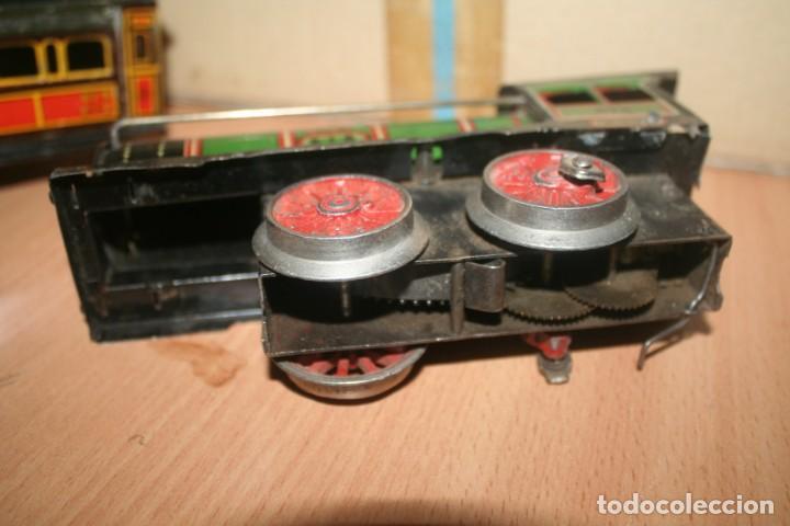 Juguetes antiguos Payá: antiguo tren paya ref 896 hojalata a cuerda escala 0 - Foto 2 - 276486638