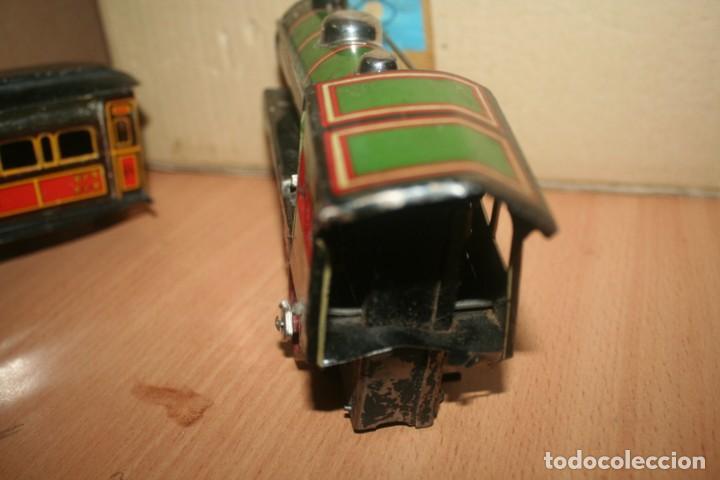 Juguetes antiguos Payá: antiguo tren paya ref 896 hojalata a cuerda escala 0 - Foto 3 - 276486638