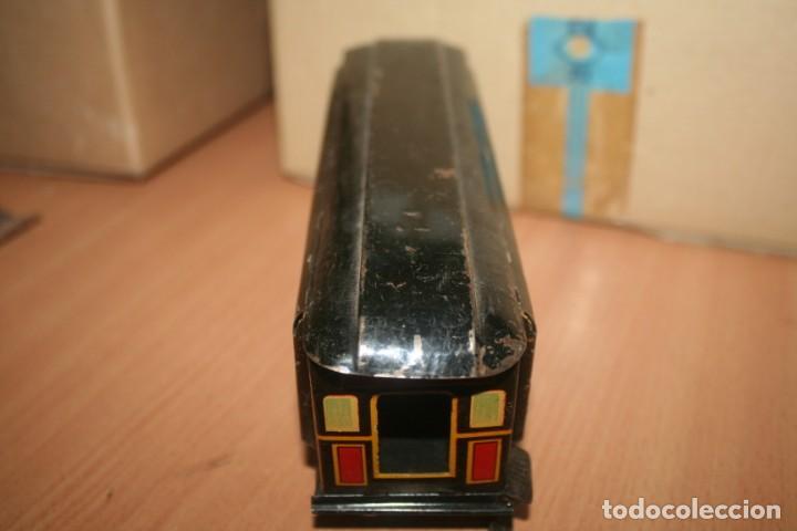 Juguetes antiguos Payá: antiguo tren paya ref 896 hojalata a cuerda escala 0 - Foto 7 - 276486638