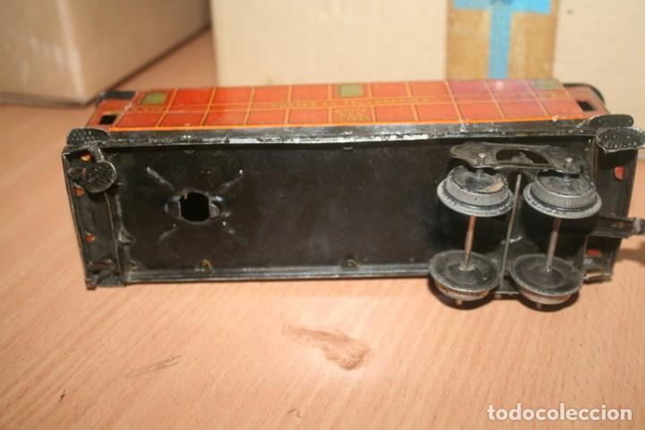 Juguetes antiguos Payá: antiguo tren paya ref 896 hojalata a cuerda escala 0 - Foto 11 - 276486638