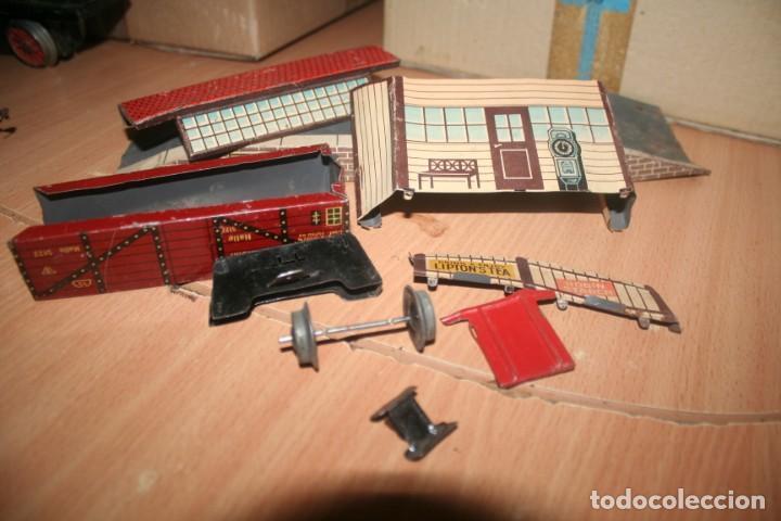 Juguetes antiguos Payá: antiguo tren paya ref 896 hojalata a cuerda escala 0 - Foto 12 - 276486638