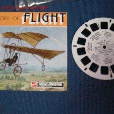Juguetes Antiguos: VIEW MASTER HISTORY OF FLIGHT DESDE 1903 A1935 . AÑO 1973 CON 21 FOTOGRAFIAS. Lote 2983845