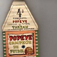Juguetes Antiguos: PELICULA Nº 4 DEL FAMOSO CINELIN PRECINE - POPEYE CAMPEON DE FUTBOL. Lote 56971243