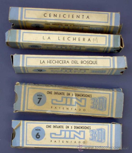 Juguetes Antiguos: CINE INFANTIL EN RELIEVE O 3D JIN. + 5 PELÍCULAS. SIN FECHA. 1950S ? - Foto 7 - 43397975