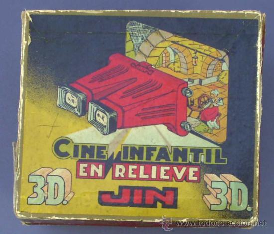 Juguetes Antiguos: CINE INFANTIL EN RELIEVE O 3D JIN. + 5 PELÍCULAS. SIN FECHA. 1950S ? - Foto 10 - 43397975