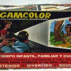 Juguetes Antiguos: AIRGAMCOLOR AIRGAM PROYECTOR CINE INFANTIL CON CALEIDOSCOPIO AÑOS 60. Lote 11519026