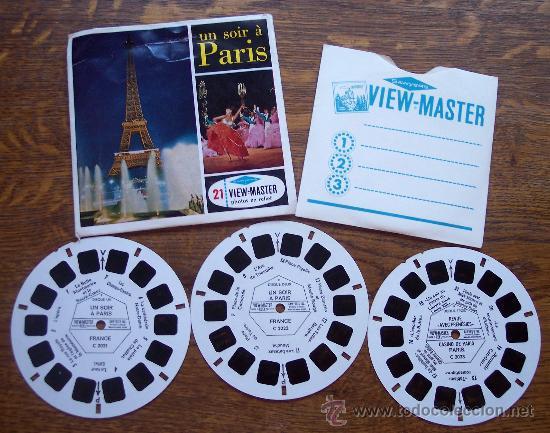 3 DISCOS 3D *ESTEREOFOTOS VIEW-MASTER * UN SOIR A PARIS-C202 (Juguetes - Pre-cine y Cine)