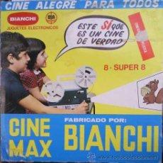 Juguetes Antiguos: CINE MAX BIANCHI CINEMAX 8 SUPER 8 CON PELICULA PANTERA ROSA. Lote 24270337