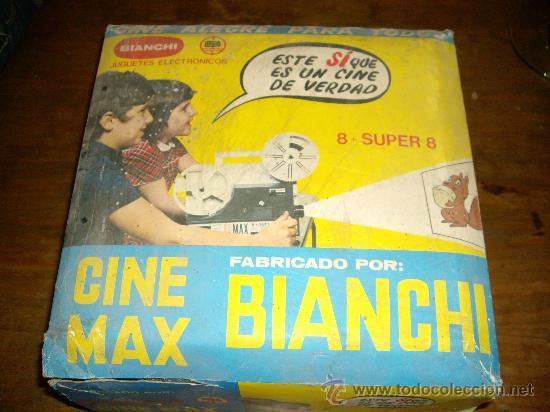 CINE MAX DE BIANCHI... PROYECTOR SUPER 8 MAS 4 PELICULAS (Juguetes - Pre-cine y Cine)