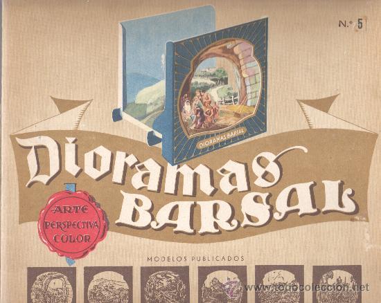 EXTRAORDINARIO DIAROMA BARSAL - Nº5 GRANDES DIMENSIONES PRECPECTIVA JAMAS IGUALADA (Juguetes - Pre-cine y Cine)