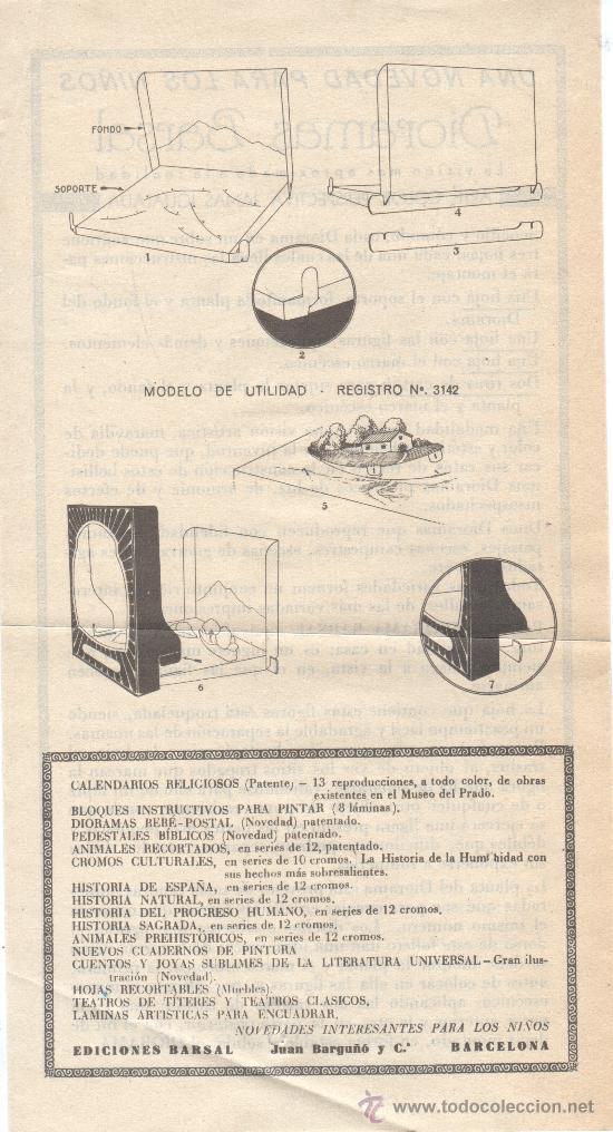 Juguetes Antiguos: extraordinario diaroma barsal - nº5 grandes dimensiones precpectiva jamas igualada - Foto 3 - 30398649