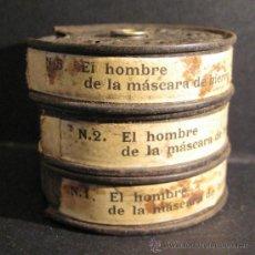 Juguetes Antiguos: EL HOMBRE DE LA MASCARA DE HIERRO. Nº 807. N1/N2/N5. PATHE BABY. 9,5 MM.TRES BOBINAS 5 CM. NO VISIO. Lote 82487935