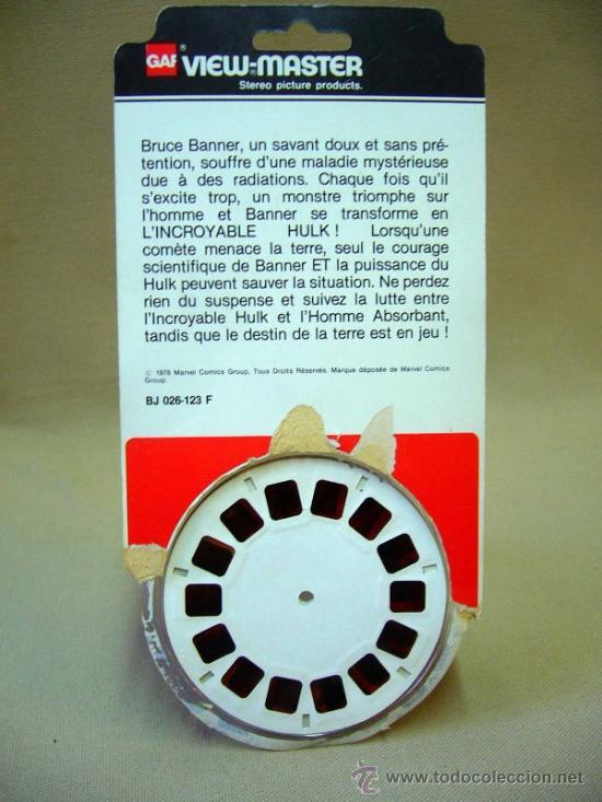 Juguetes Antiguos: 3 DISCOS VIEW MASTER, GAF, INCREIBLE HULK, 1978 - Foto 2 - 36093905