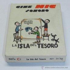 Juguetes Antiguos: CAJA DE 6 PELICULAS DEL CINE NIC SONORO, LA ISLA DEL TESORO, SERIE C, N. 31-36, . Lote 37472282