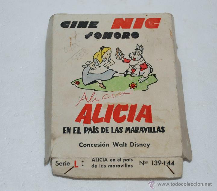 ESTUCHE 6 PELICULAS CINE NIC SONORO ALICIA EN EL PAIS DE LAS MARAVILLAS SERIE L (Juguetes - Pre-cine y Cine)