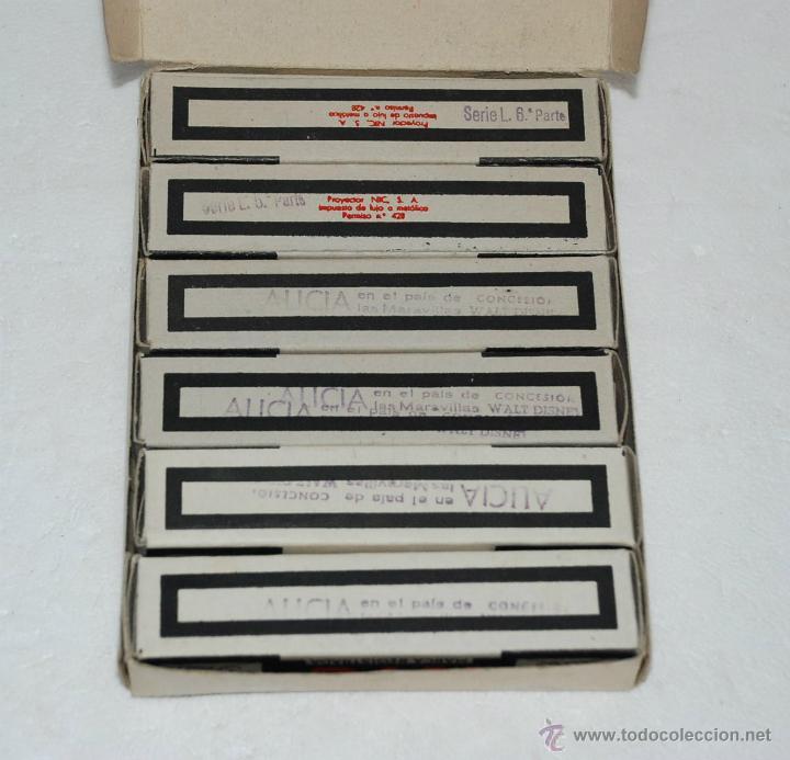 Juguetes Antiguos: ESTUCHE 6 PELICULAS CINE NIC SONORO ALICIA EN EL PAIS DE LAS MARAVILLAS SERIE L - Foto 2 - 40808246