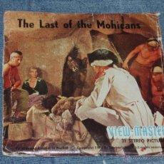 Juguetes Antiguos: EL ULTIMO DE LOS MOHICANOS. VISOR ESTEREOCOPICO 1960 = VIEWMASTER INDIOS-VAQUEROS=. Lote 43159952