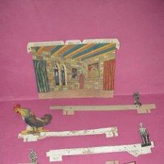 Juguetes Antiguos: ANTIGUOS PERSONAJES MOVILES Y TELON DEL TEATRO DE * EL CASTILLO DE METEMIEDO *. Lote 46489017