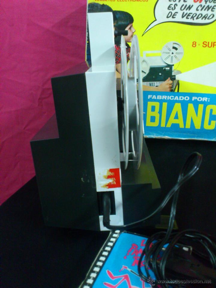 Juguetes Antiguos: PROYECTOR K6 CINE MAX BIANCHI 8 + SUPER 8 CON PELICULA ORIGINAL BIANCHI + 5 PELICULAS COSMO VISION - Foto 6 - 46586311