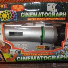 Juguetes Antiguos: CINEMATOGRAPH,PROYECTOR DE CINE CON 4 DISCOS CON FILM,CAJA ORIGINAL,AÑOS 90,A ESTRENAR. Lote 46705594