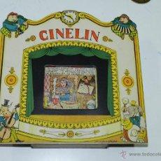 Juguetes Antiguos: CINELIN CINE TEATRO DE CARTON DURO, AÑOS 30, CON PELÍCULA INCLUIDA Nº 1 ATERRIZAJE EN PICADO DE NARI. Lote 47297699